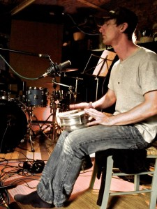Mark Bloomer adding percussion